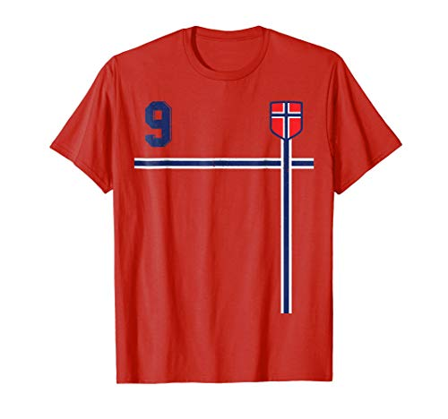 Retro Norway Soccer Jersey Norge Football T-Shirt Home 9
