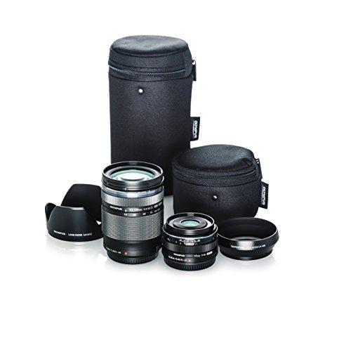Olympus M.Zuiko Travel Lens Kit (M.Zuiko Digital ED 14-150mm F4.0-5.6 II and M.Zuiko Digital 17mm F1.8 Black lenses)