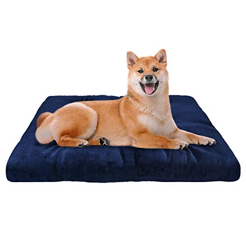 "SHU UFANRO Dog Crate Mat Washable Kennel Pads Mat Anti-Slip Mattress Pet Bed Pads for Large Medium Small Dogs and Cats 30""/36""/42"" Bed Mats"
