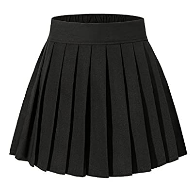 Tremour Women's High Waisted Pleated Mini Shorts Elasticated Sport Skorts XS-XL 16 Colors