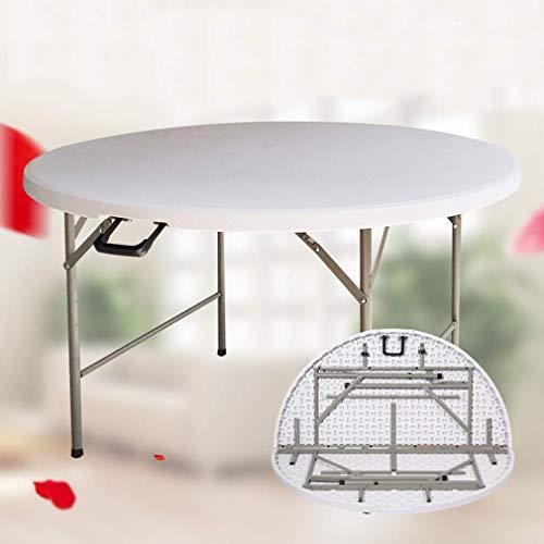 Klaptafel Household ronde tafel draagbare inklapbare grote ronde tafel diameter 122 cm, 135 cm, 152 cm, 162 cm, 183 cm (maat: 122 cm) 162cm
