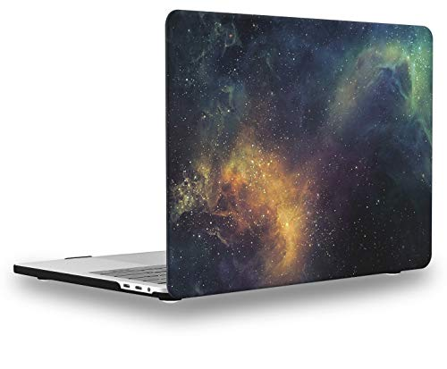 UESWILL MacBook Pro 13 inch Case 2020 2019 2018 2017 2016 Release A2289 A2251 A2159 A1989 A1706 A1708, Galaxy Pattern Hard Case for MacBook Pro 13 inch, 2/4 Thunderbolt 3 Ports (USB-C), Nebula/Green