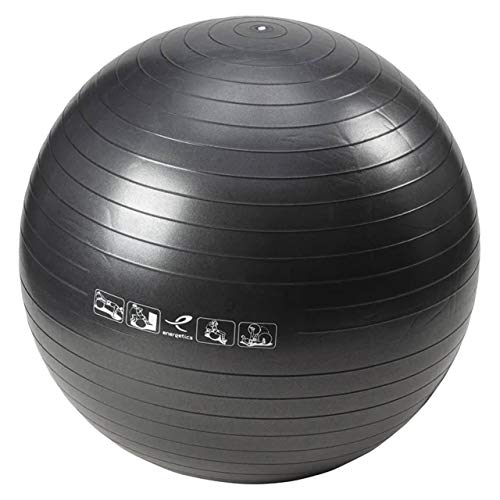 ENERGETICS Unisex – Erwachsene Basic Gymnastik-Ball, Black, One Size