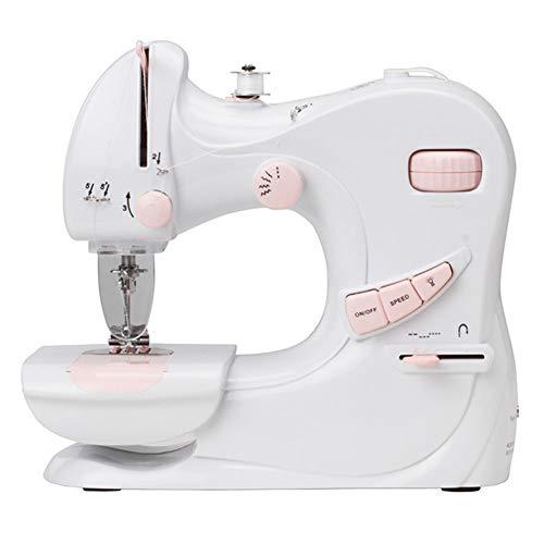 Draagbare naaimachine-5 steken patronen voetpedaal dubbele snelheidsregeling naaimachine elektrische overlock naaimachine klein huishoudelijk naaigereedschap