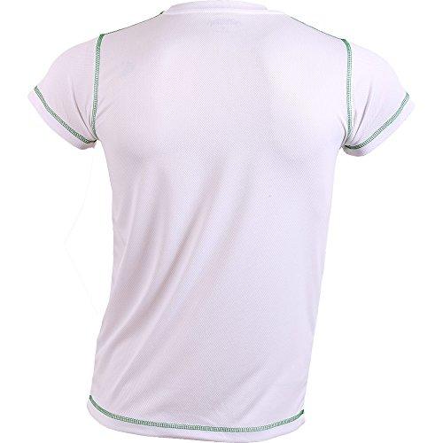 Padel Session Camiseta Tecnica Blanco Verde