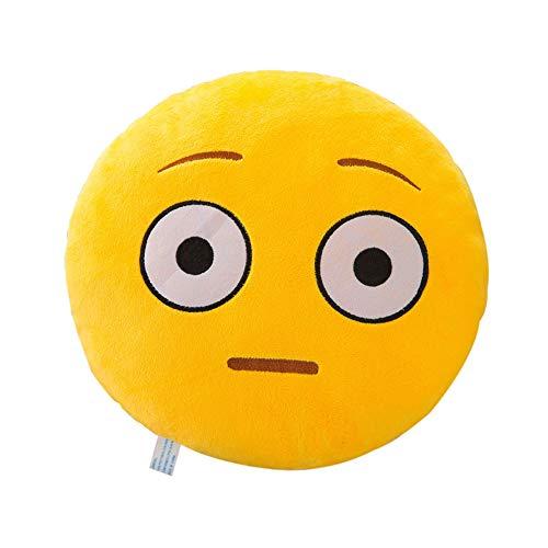 TWIFER Soft Expression Smiley Emoticon Kissenbezug Plüschtier Puppe Kissenhüllen Abdeckung (M,32cm)