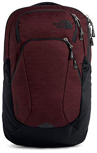 The North Face Women's Pivoter Backpack, Deep Garnet Red Light Splinter Heather/TNF Black