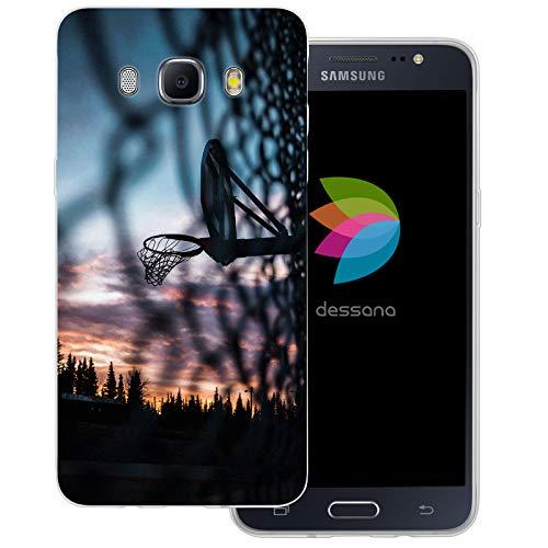 dessana - Cover trasparente per Samsung Galaxy J5 (2016), motivo: pallacanestro