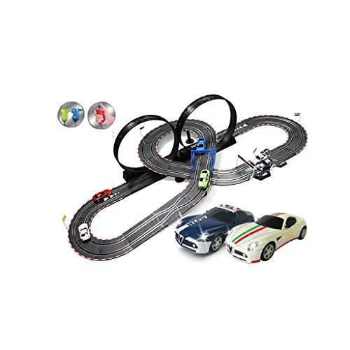 LIUFS-Schienenfahrzeuge Kinder Spielzeugbahn Auto Set Track Racing Toy Track Sonic Storm Track Racing Elektrische Fernbedienung (Farbe : B, größe : 6m)