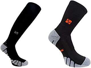 Vitalsox Italy VT1211/VT0810 Silver Drystat Combo Pack Graduated Compression and Crew Socks