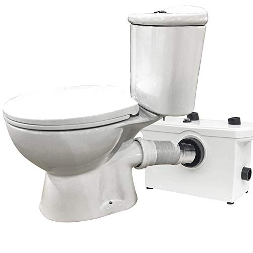 Elongated Toilet Macerating Upflush Macerator Pump