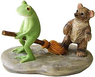 ダイカイ 10周年復刻コポー Copeau 飛びたいカエルとほうきを踏むクマ 8.2×5.2×5.4cm 73176