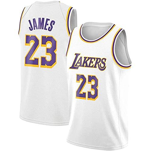 Trade Los Angeles Lakers Lebron James Baloncesto Masculino Cosido Transpirable # 23 Sport Swingman Jersey Ropa, Fresco y Transpirable Tejido Deportivo, Que Absorbe la Humedad(Size:S,Color:A3)