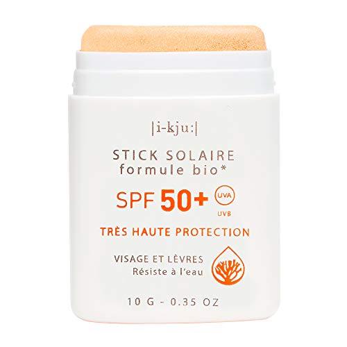 EQ | Protector Solar Facial en Stick SPF50+ - Filtros Minerales - Cara y Zonas Sensibles - Protección UVA UVB muy alta - Resistente al Agua - Dorado - 10g
