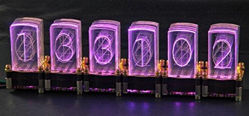 LED-Nixie-S 6-stelliger Bausatz inkl. Controller LED-Uhr Steuerung Nixie Design