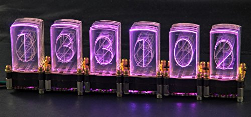 LED-Nixie-S 6-stelliger Bausatz inkl. Controller LED-Uhr Steuerung Nixie Design