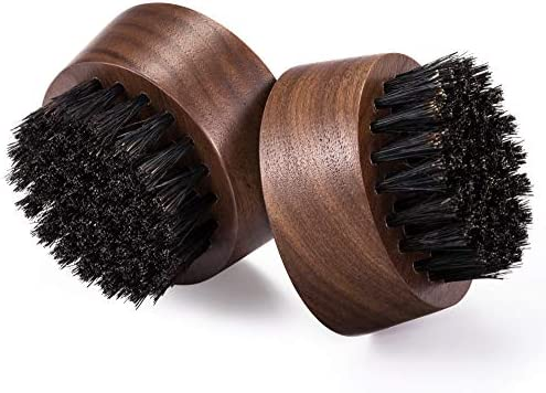 Beard Brush for Men 2 Pack Black Walnut Wood 100 First Cut Boar Bristles Works with Beard Oil product image