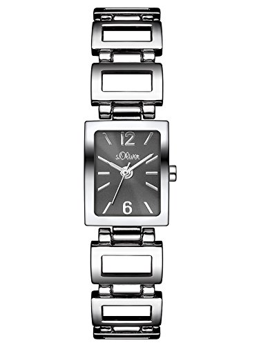 s.Oliver Damen-Armbanduhr Analog Quarz Alloy SO-3025-MQ