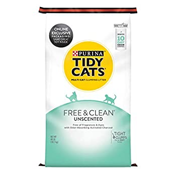 Purina Tidy Cats Clumping Cat Litter Free & Clean Unscented Multi Cat Litter - 40 lb Bag