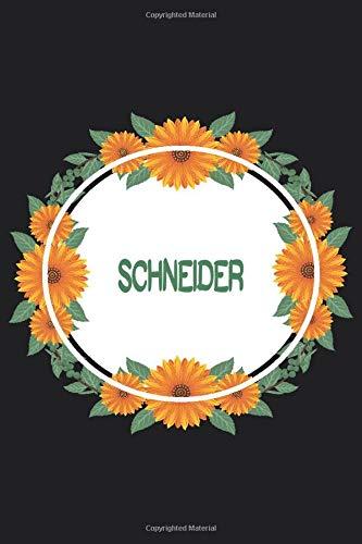 Schneider: Personalized Notebook | Schneider's Personal Writing Journal | Blank lined notebook | Note Taking for Schneider