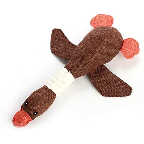 ZWQPet Dog Chew Squeaker Toys para Perros pequeñosPug Squeaky Toy Pet Shop Dog Pets Supplies, marrón, Longitud S 31cm