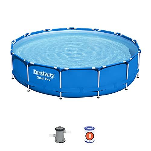 Bestway Piscina Fuori Terra Steel PRO 13  x 33  3.96m x 84cm Pool Set, Blu
