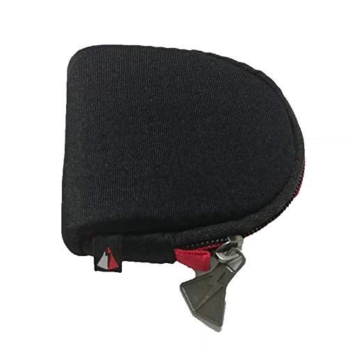 Bolsa de Almacenamiento de Filtro Protector multifunción Caja de Almacenamiento de Filtro Redondo, Negro, Grande