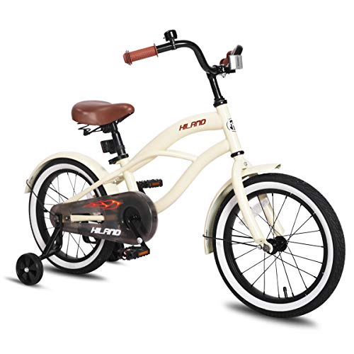 Find Discount JOYSTAR 14 Inch Girls Bike with Training Wheels & Bell for 3 4 5 Years, Children Beach...