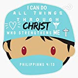 TCT Trading I Can Do All Things Through Christ Who Strengthens Me Philippians 4:13 Doctor Nurse Healthcare Practitioner Vinyl Stickers Waterproof Decal Car, Laptop, Bumper Stickers 5'