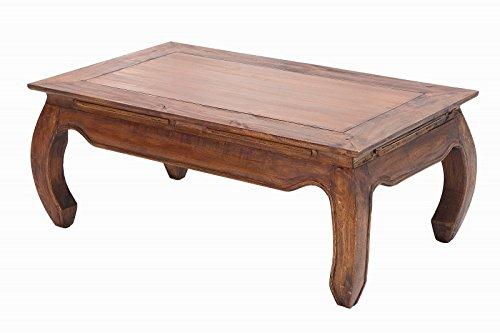 Casa Padrino Designer Massivholz Mahagoni Couchtisch Natur B.100cm x H.40cm x T.60cm - Salon Wohnzimmer Tisch