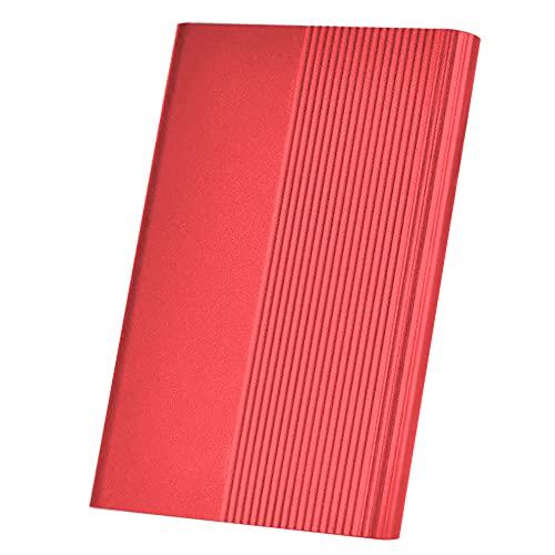 Disco duro externo portátil de 1 TB y 2 TB Ultra Slim Hard Drive portátil HDD Type C Hard Drive for Mac,PC(2 TB Red)