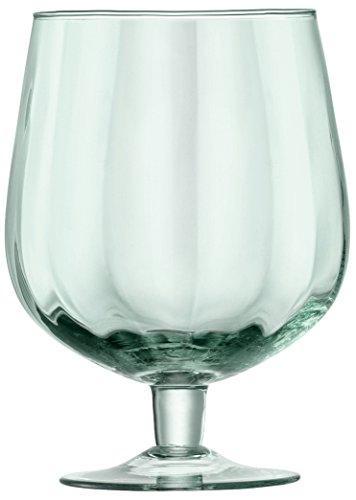 LSA International - Mia - Set 2 Vasos de cerveza artesanal 750ml, Óptica de vidrio reciclado