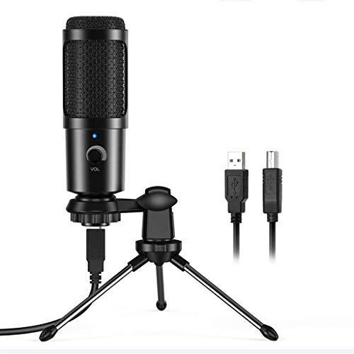 ZNBJJWCP Micrófono USB PC Condensador Micrófono Vocal de Registro Micrófono de Estudio para tu Tubo Video Chat de Chat Podcast