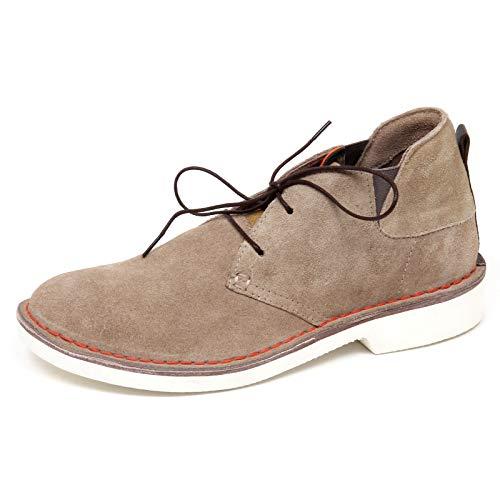 Gaudi F2812 Polacchino Uomo Beige Scarpe Suede Boot Shoe Man [40]