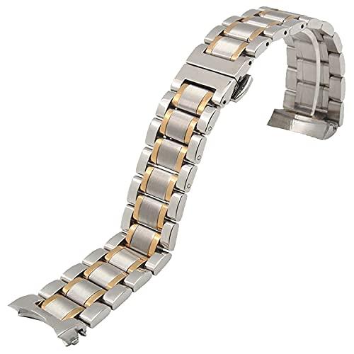 Chtom 22mm azul silicona goma impermeable para hombre mujer reloj banda correa hebilla bar