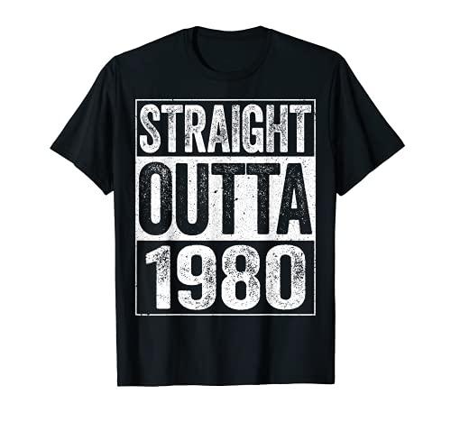 Straight Outta 1980 - Camiseta para regalo de cumpleaños 41 Camiseta