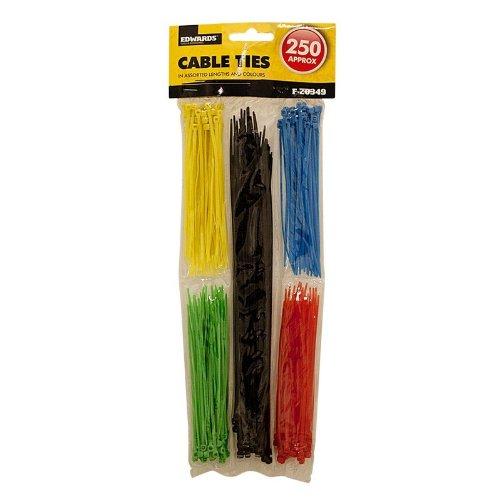 Guilty Gadgets Kabelbinder, 5 Farben (farblich sortiert), 250 Stück