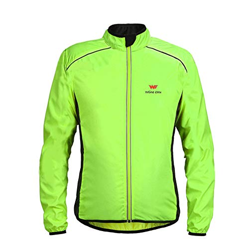 FRAUIT Herren/Frauen Unisex Hellgrün Sweatshirt Leichte Jacke wasserdichte Windjacke Fahrrad Radfahren Sportjacke Pullover