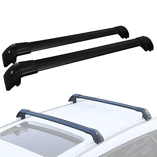 WYYUE 2 Piezas Barras de Techo de Aluminio para Mitsubishi Outlander PHEV SUV 2012-2020丨para Coche, Portaequipajes de Kayak丨para Techo, Tabla de Surf Techo Acolchado丨Carga útil 75 kg