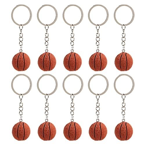 KESYOO 10Pcs Basketball Keychain Harz 3D Orange Basketball Schlüsselring Anhänger Basketball Tasche Charme für Welt Tasse Gefälligkeiten Karneval Belohnung Party Tasche Geschenk