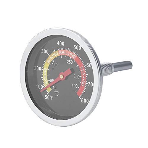 Ymiko Termómetro de Parrilla de Acero Inoxidable, indicador de Temperatura del ahumador, indicador de Calor de Parrilla de Gas de carbón para cocinar Barbacoa, Pantalla de Grados Celsius y Fahrenheit