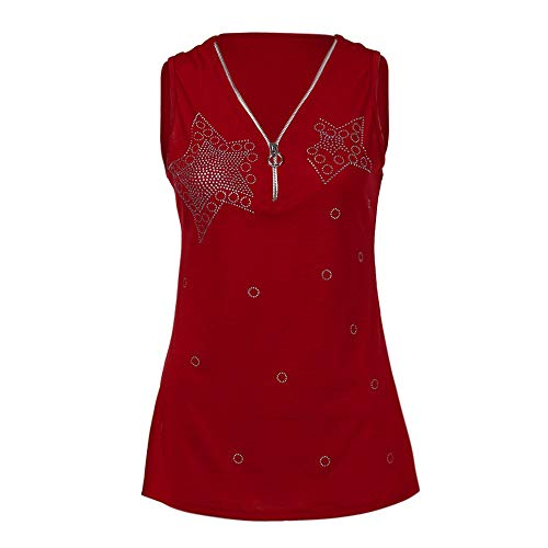 Vrouwen Lady Hot Boor Zipper mouwloos vest Tank Blouse Pullover Top shirt Vrouwen Lace Vest zonder mouwen Loose Crop Gilet