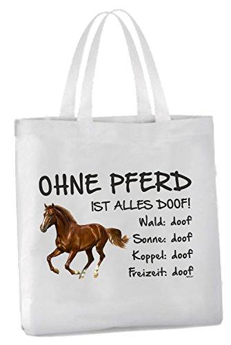 AdriLeo Einkaufstasche Ohne Pferd ist Alles doof! (Brauner)