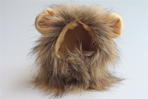 Pet Supplies itplus mignon chaton/Kitty/Pet Costume Lion Mane perruque pour chat ou petit chien Puppy Dress Up Halloween Noël Festival (brun)