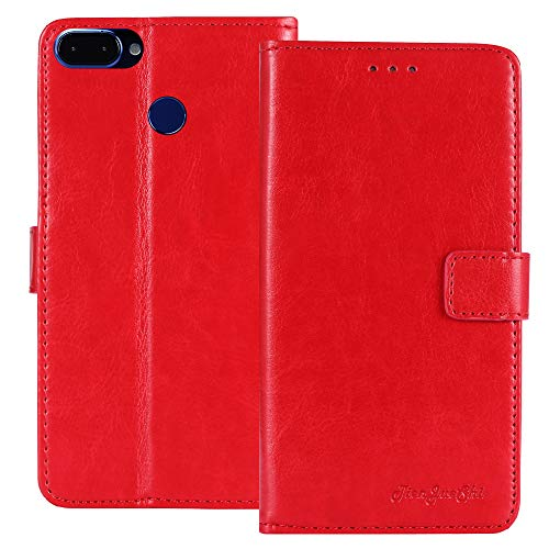 TienJueShi Red Book Stand Retro Business Flip Leather Protector Phone Case For ROKiT IO 3D 5.4 inch Cover Etui Wallet