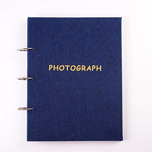 SFBBBO Album Fotos Scrapbook Álbum de Fotos Grande para Fotos 10x15 Hojas Sueltas 3 Libro de Carpeta de Anillas para entradas de 3 Pulgadas 5 Pulgadas 6 Pulgadas 7 Pulgadas 5 Pulgadas Azul Pro