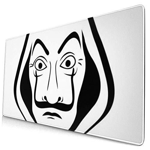 Mousepad,Mascara Do La Casa De Papel Gaming-Mausmatte, Extra Große Attraktive Dekorative Rutschfeste Gaming-Mousepads Für Die Spielzeit,40x75cm