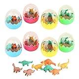 8pcs Mini Tiere Radiergummi Set für Kinder, Dinosaurier Ei Spielzeug Dino Radiergummi Radiere fur Gastgeschenke als Geburtstagsgeschenk und Kreatives Spielzeug Party bunte lustige Radiergummi -