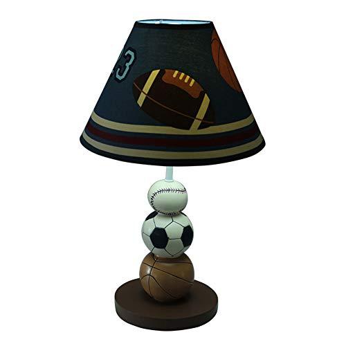YU-K Aire de basket-ball football boys room chambre lampe de table lampe de chevet creative belle caricature chaud réglable lampes décoratives,25 * 41cm, interrupteur route