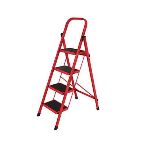 Trapladder voor draagbare opvouwbare metalen antislip ladderstoel met armleuning stoel voor volwassenen opstapkruk 4.15